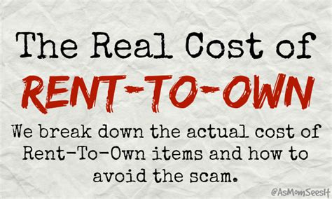the real cost of rent to own for household items is it