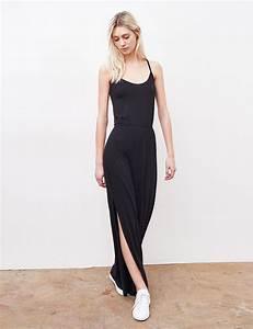 robe longue basic noire femme o jennyfer With jennyfer robe longue