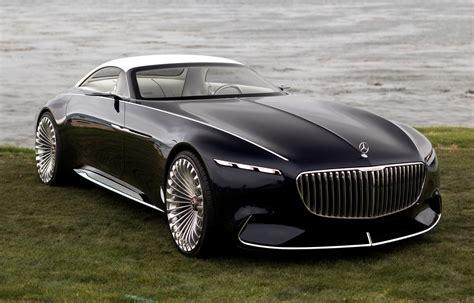 Кабриолет Vision Mercedes-maybach 6 показали в чёрном