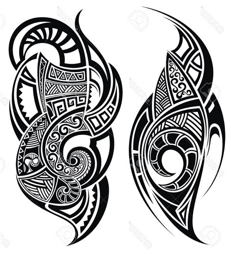 shoulder chest tribal tattoo drawings vector cdr  vector art images graphics clipart