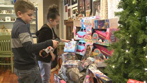 Donations can be asked for in many ways, and not all of them are verbal. Kids ask for Toys for Tots donations instead of presents