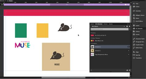 muse templates responsive how to use cc libraries in muse responsive muse templates widgets