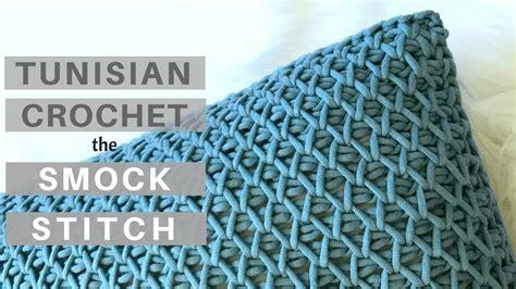 crochet learn  tunisian crochet smock