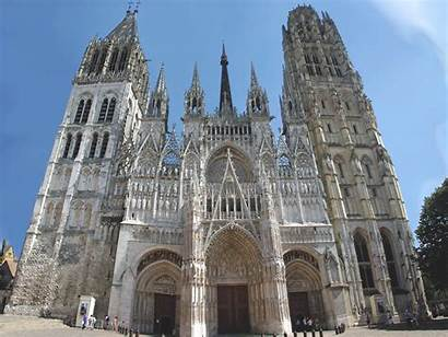Cathedral Rouen Facade French Dame Notre West