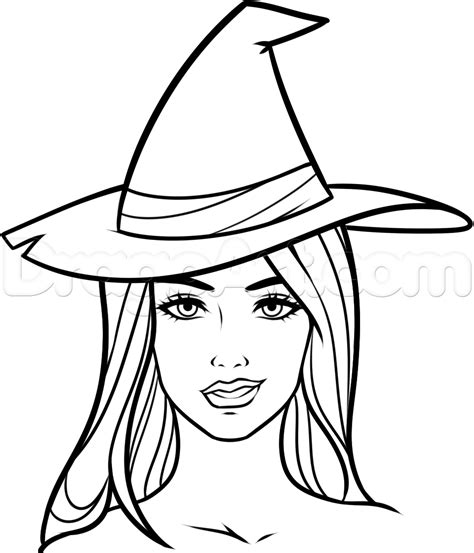 cartoon witch drawing  getdrawings