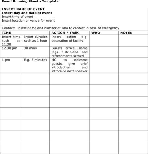run sheet templates   formtemplate