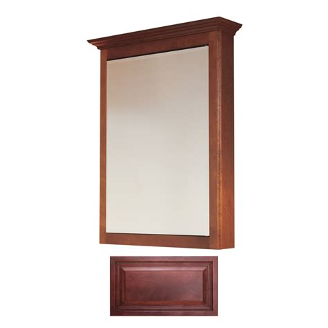 surface mount medicine cabinet lowes shop insignia insignia 22 75 in x 30 5 in burgundy maple