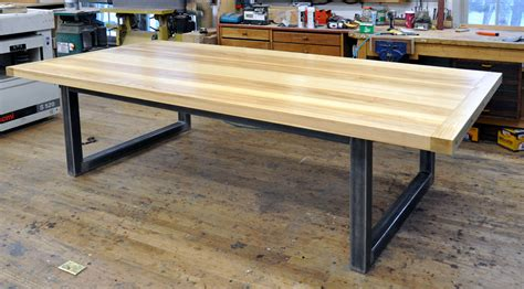 metal dining table base only dorset custom furniture a woodworkers photo journal
