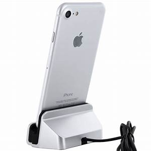 Iphone 5 Ladestation : iphone 7 dockingstation in silber lightning dock f r iphone 7 6s 6 plus se ebay ~ Sanjose-hotels-ca.com Haus und Dekorationen