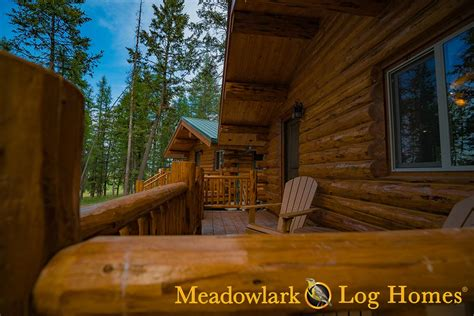 montana cabin  meadowlark log homes
