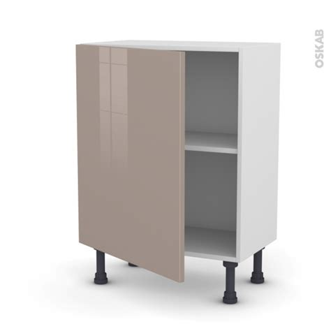 cuisine moka meuble de cuisine bas keria moka 1 porte l60 x h70 x p37