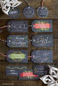 5 free christmas gift tag printables With craft labels and tags