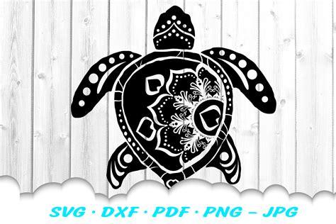 Cricut design space, sure cuts a lot, make the cut!, inkscape, coreldraw, adobe illustrator and other. Mandala Sea Turtle SVG DXF Cut Files Bundle (407720 ...