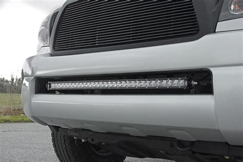 tacoma led light bar 30in led light bar bumper mounting brackets for