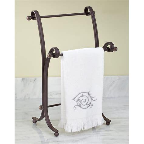 bath hand towel stand rack bronze bathroom standing holder