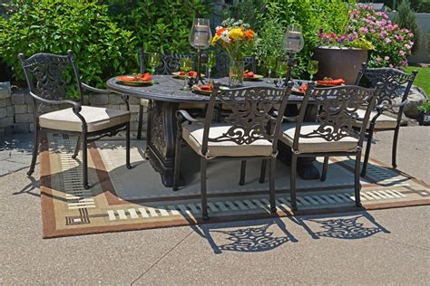 serena luxury 6 person all welded cast aluminum patio