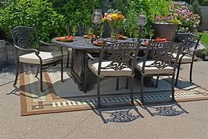 Cast aluminum patio furniture cast aluminum for Aluminum patio furniture sets