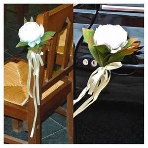 ceremony pew bows decorations creative flower weddings With chambre bébé design avec decoration mariage voiture fleurs