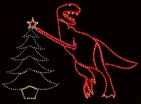 Animated Lighted Christmas T-Rex