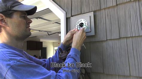 install exterior light without junction box exterior light installation on vinyl siding block youtube