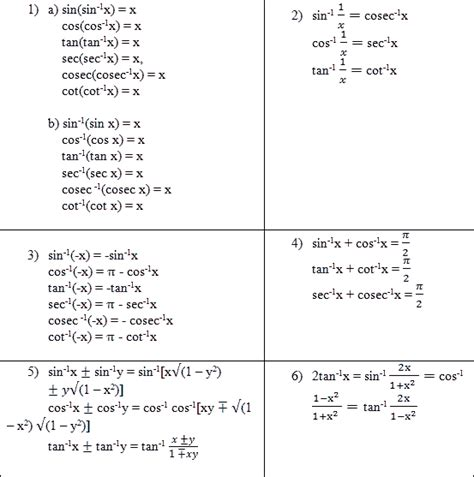 Properties Of A Inverse Trigonometric Function Tutorsonnet
