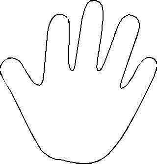 blank handprint template clipart
