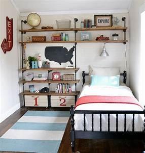 Industrial, Shelves, For, A, Boy, U2019s, Room