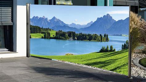 Mit Fotodruck by Seitenmarkise Mit Berge Fotodruck Sichtschutz Rechts 1 6x3 M