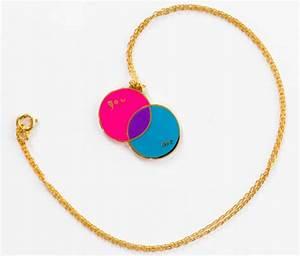 Venn Diagram Pendant Necklace By Yellow Owl Workshop
