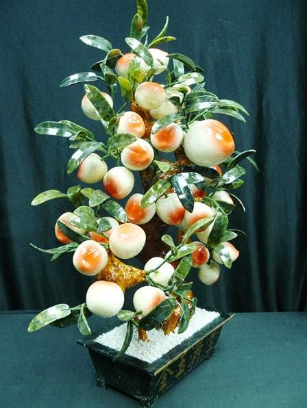 jade peach bonsai tree  p