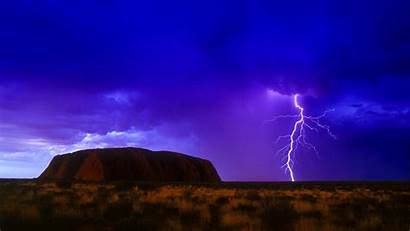 Lightning Storm Rain Clouds Thunderstorm Sky Nature