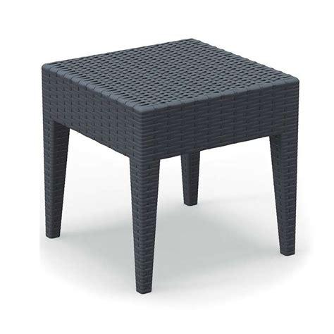 table basse de jardin carree en resine imitation tressage miami  piedscom