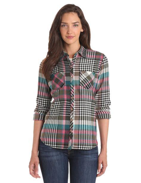 plaid blouse dickies work wear