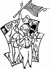 Parade Watching 4th July Coloring Pages sketch template