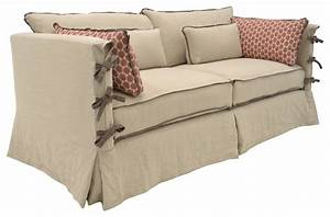 farmhouse inspired slipcovered sofa with arm ties With sectional sofa farmhouse