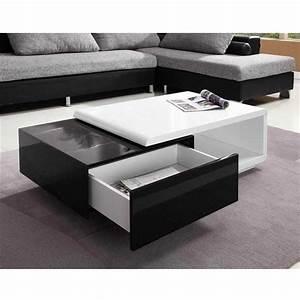 Table Basse Noir Laqué : collection de tables basses modernes tr s chics la perle rose ~ Teatrodelosmanantiales.com Idées de Décoration