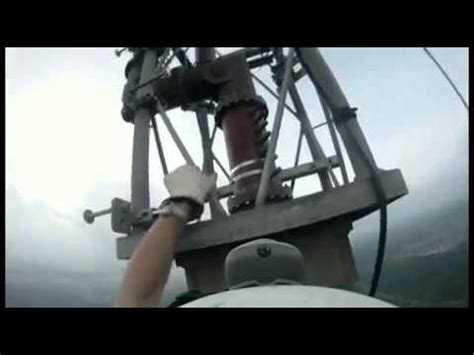 changing a lightbulb on an 1768 foot high tower 187