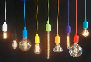 Silicone color cord pendant hanging lamp by hangoutlighting