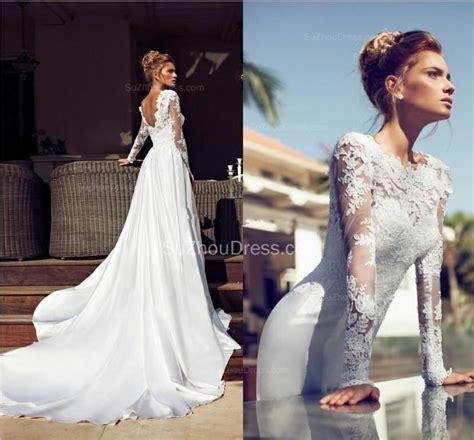 2018 sleeve bridal dresses appliques
