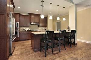 oak floors with dark walnut kitchen no color variation With kitchen colors with white cabinets with early american wall art
