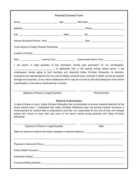 medical disclaimer form best photos of parental consent form template parental