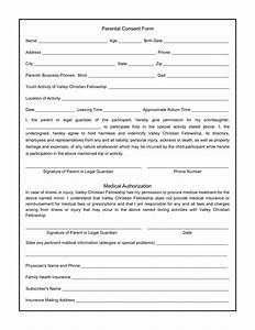 Best photos of parental consent form template parental for Parental medical consent form template