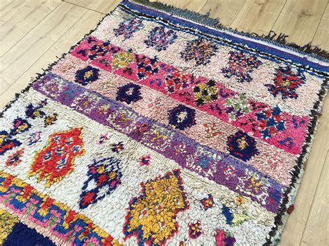 moroccan boucherouite rug east unique vintage moroccan rug tapis berbere