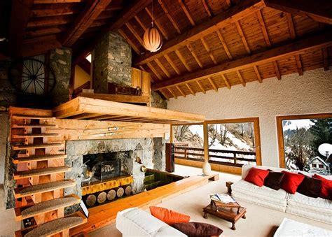 retro ski lodge vintage items chalet interior