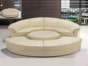 Furniture white sectional sofas cheap with tufted ottoman for Used modern sectional sofa