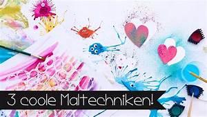 Mit Wasserfarbe Malen : 3 coole maltechniken malen mit leni malen mit ~ Watch28wear.com Haus und Dekorationen