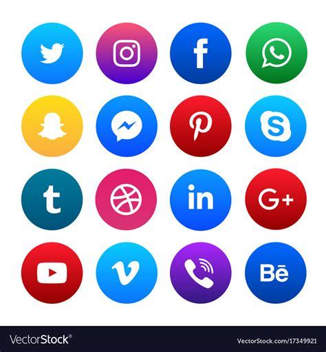 Social Media Icons Vector Social Media Icons Set Royalty Free Vector Image