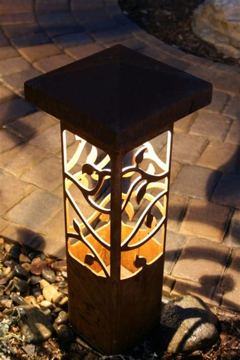 outdoor decorative light decorative steel bollard outdoor