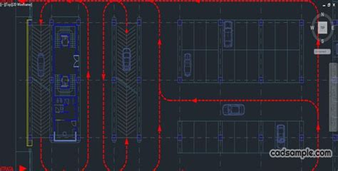 car parking autocad drawing  plan   multi storey