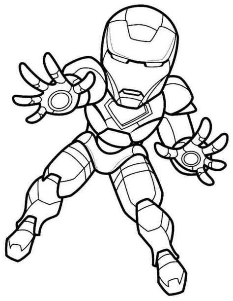 mini super hero squad iron man coloring page superheroes
